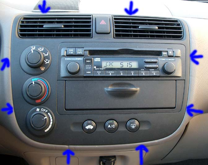 Head unit and climate controls